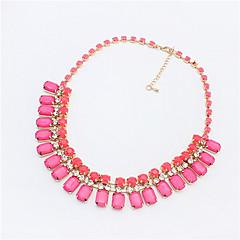 Fashion Gemstone Diamond Necklace Short Block Children Necklace