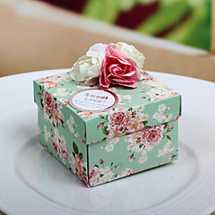 20 Piece/Set Favor Holder-Cubic Card Paper Flowers Wedding Favor Boxes Candy Boxes