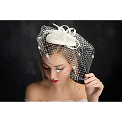 Women's Lace / Flax / Net Headpiece-Special Occasion Fascinators 1 Piece Clear Irregular 15