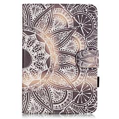 PU Leather Material Half Flower Embossed  Pattern Tablet Sleeve for iPad mini 4