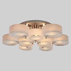 ALAMOGORDO - Lüster aus Akryl mit Chrom-Lackierung mit 9 Glühbirnen