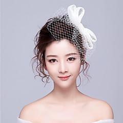 Femme Alliage Casque-Mariage / Occasion spéciale / Décontracté / Bureau & Carrière Voile de cage à oiseaux / Pique cheveux 1 Pièce Blanc