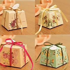Geschenkboxen(Elfenbeinweiß / Grün / Rosa / Rot,Kartonpapier) -Nicht personalisiert-Hochzeit / Brautparty / Babyparty