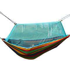 220*150cm Portable Hammock Folded Into The Pouch Mosquito Net Hammock Hanging Bed Travel Kit Camping Hiking