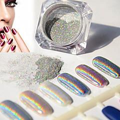 2g / boîte ongles paillettes poudre shinning miroir yeux maquillage ombre poussière de poudre nail art chrome diy pigment paillettes