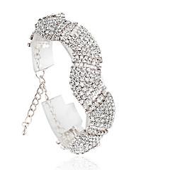Dames Tennis Armbanden Modieus Legering Cirkelvorm Zilver Gouden Sieraden Voor Bruiloft 1 stuks