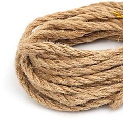 beadia 6mm naturalne konopny sznurek jutowy do DIY biżuteria podejmowania Craft (5mts)