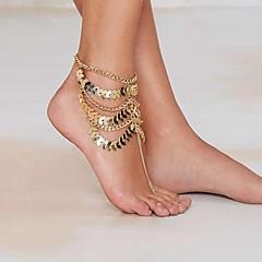 Dame Ankel/Armbånd Gullbelagt Legering Unikt design Europeisk Mote Erklæringssmykker Multi Layer Vintage Sexy Smykker Gylden Kvinner