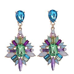 Dame Krystal Mode Europæisk Rhinsten Guldbelagt Geometrisk form Dråbe Smykker Til Daglig Afslappet