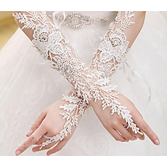 Elbow Length Fingerless Glove Cotton Bridal Gloves Spring lace