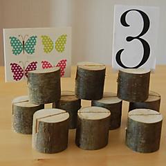 Madeira Cartões do lugar / Cartões de Número para Mesa - 1 Piece / Set