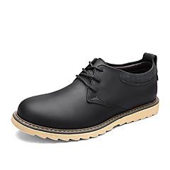 Bărbați Pantofi Flați Primăvară Toamnă Confortabili PU Birou & Carieră Casual Toc Plat Negru Khaki Altele