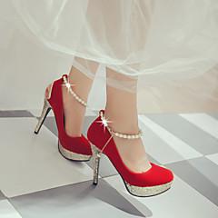 Feminino-Saltos-Sapatos clube Light Up Shoes-Salto Agulha-Preto Vermelho Branco-Courino-Ar-Livre Escritório & Trabalho Casual