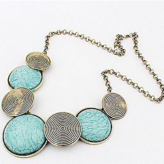 Women's Statement Necklaces Alloy Bohemian Personalized Statement Jewelry Fashion Yellow Green Blue Jewelry Daily Casual 1pc