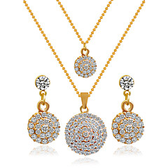 Alloy Bridal Jewelry Sets Necklaces Earrings Wedding