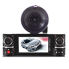 dual linse bil kamera køretøj dvr dash cam to linse video recorder F600