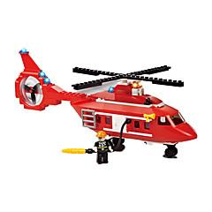אבני בניין לקבלת מתנה אבני בניין צעצוע בניה ודגם מכונית / מסוק פלסטיק מעל 6 כסוף / שנהב צעצועים