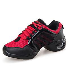 Damen-Flache Schuhe-Lässig-Tüll-Flacher Absatz-Rundeschuh-Weiß / Koralle / Schwarz und Gold / Schwarz und Rot