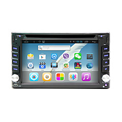 android 4.4 6.2 tommer in-dash bil dvd-afspiller multi-touch kapacitiv med wifi, gps, rds, bt, touch, screen