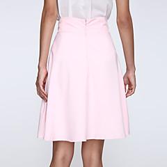 Women's Sexy/Beach Knee-length Skirts , Chiffon Inelastic