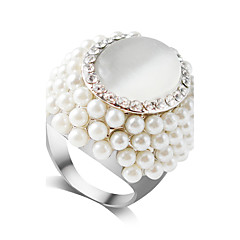 RingNail Finger RingsJewelry Fashionable Wedding / Party Alloy / Imitation Pearl / Rhinestone White 1pc6 / 7 / 8 / 9