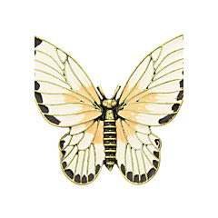 新しい来るエナメル蝶の形のブローチ