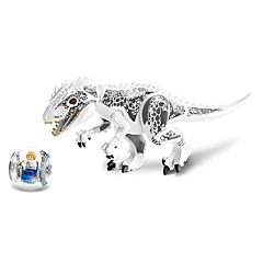 쥬 세계 공원 공룡 티라노 사우루스 렉스 트럼프 빌딩 블록 장난감을 조립 79151 투명 볼을 발산하고 미니 피규어