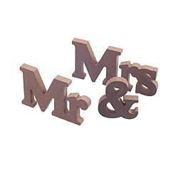 Dřevo Tabulka Center Pieces-Nepřizpůsobeno držáky jmenovek 3 Piece / Set