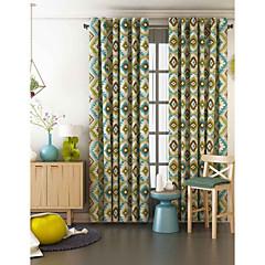 Ein Panel Window Treatment Designer , Geometrisch Wohnzimmer Polyester Stoff Vorhänge drapiert Haus Dekoration For Fenster