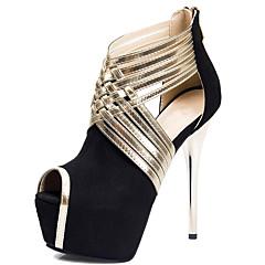 נשים-סנדלים-בד-פלטפורמה חדשני-שחור כחול אפור אבטיח-חתונה שמלה מסיבה וערב-עקב סטילטו פלטפורמה