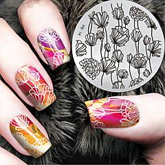 2016 dernier modèle la version la mode fleur ongles art plaques de modèle d'image estampage