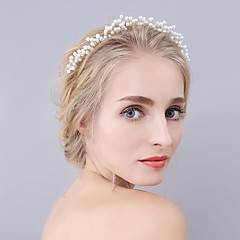 Handmade Serried Imitation Pearl Headpiece-Wedding / Special Occasion Tiaras / Headbands 1 Piece Ivory