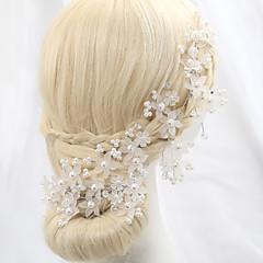 Femme Cristal Alliage Imitation de perle Casque-Mariage Occasion spéciale Extérieur Fleurs
