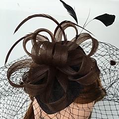 成人用 羽毛 ネット かぶと-結婚式 パーティー カジュアル ヘッドドレス バードケージベール 1個