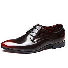 גברים-נעלי אוקספורד-PU-נעלי בובה (מרי ג'יין)-שחור כחול בורגונדי-משרד ועבודה יומיומי-עקב שטוח
