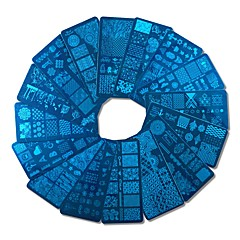 1db új design diy lengyel bélyegzés köröm bélyegző sablonok köröm lemezek körmök eszközök xyj17-32