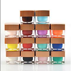 12Pcs Phototherapy Nail Plastic Detachable Pure Color On The Plastic 8ml