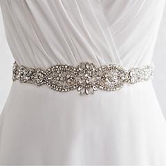 Satin Mariage Fête/Soirée Quotidien Ceinture-Paillettes Billes Appliques Perles Cristal Femme 250cmPaillettes Billes Appliques Perles