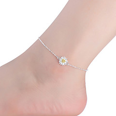 στερλίνα ασημένια κοσμήματα 1pc anklet των γυναικών
