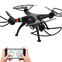 Drone 809W 4-kanaals 6 AS Met 720P HD-cameraLED-verlichting Terugkeer Via 1 Toets Auto-Takeoff Failsafe Headless-modus 360 Graden Fip