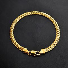 צמידים שרשרת וצמידים מוזהב ארוסים / חתונה / Party / יומי תכשיטים מתנות מוזהב / כסף,1pc