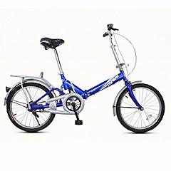 Folding Bikes Pyöräily 7 Speed 20 tuumaa Unisex / Miesten / Nais- V-jarru Tavallinen Taiteltava Tavallinen TeräsValkoinen / Punainen  /