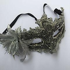 Maske Prinzessin Märchen Fest/Feiertage Halloween Kostüme Silber Weiß Schwarz Rosa einfarbig Spitze Maske Halloween Karneval Silvester