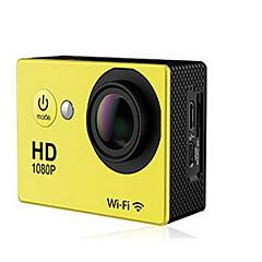 N9 מצלמה בסגנון / מצלמת פעולה 16MP 4000 x 3000 WIFI / עמיד במים / ניתן להתאמה / Wireless 30fps 4X ± 2EV 2 CMOS 32 GB H.264מצב צילום