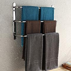 weiyuwuxian® 304 rustfrit stål badeværelse tre barer håndklædeholder poleret finish