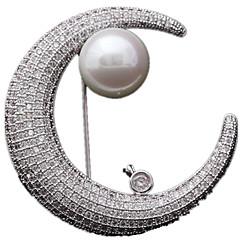 Feminino Broches Jóias de Luxo Personalizado Lua Jóias Para Diário