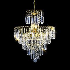 sl® europæisk stil luksus 6 lys lysekrone i krone form