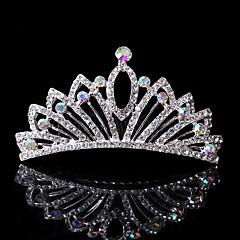 Vrouwen Bergkristal Helm-Bruiloft Speciale gelegenheden Informeel Kantoor & Cariere Tiara's Haarkammen 1 Stuk