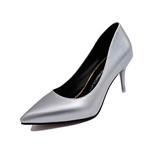 Women's Heels Fall Comfort Patent Leather Casual Stiletto Heel Crystal Heel Black Blue Silver Gold Walking