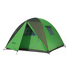 MOBI GARDEN® 3-4 사람 텐트 트리플 자동 텐트 원 룸 캠핑 텐트 옥스퍼드 방수 호흡 능력 자외선 저항력 바람 방지 따뜻함 유지 울트라 라이트 (UL) 폴더 휴대용-하이킹 캠핑 여행 야외